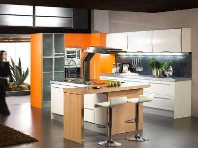 Decorar una cocina de color naranja el tono de moda cocina qu altavistaventures Choice Image