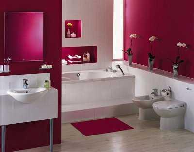 El color burdeos en la decoraci n paredes decora ilumina - Combinacion de colores para paredes de banos ...