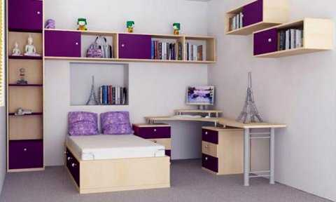Muebles de melamina perfectos para tu dormitorio for Estantes para cuartos