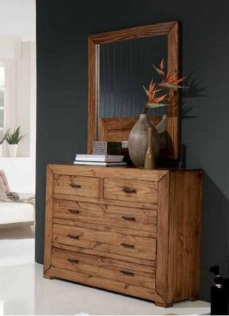 C modas de madera r sticas y perfectas para tu habitaci n for Espejos modernos en madera