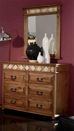 C modas de madera r sticas y perfectas para tu habitaci n for Espejos para comodas de dormitorio