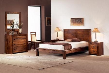 C modas de madera r sticas y perfectas para tu habitaci n for Muebles marrones de que color pinto las paredes