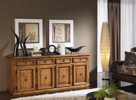 C modas de madera r sticas y perfectas para tu habitaci n - Que poner encima de una comoda ...