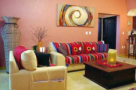 Decoraci n estilo mexicano innova en tu sala sala - Decorar piso estilo vintage ...