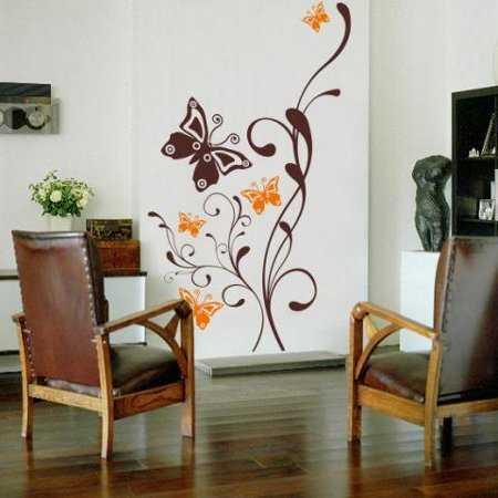 Adhesivos decorativos dale m s vida a tus paredes - Decoracion paredes blancas ...