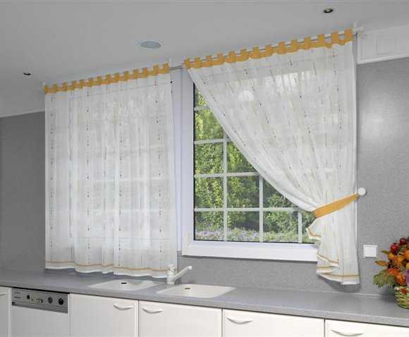 Modelos de cortinas para tu cocina escoge tu favorito for Cortinas largas