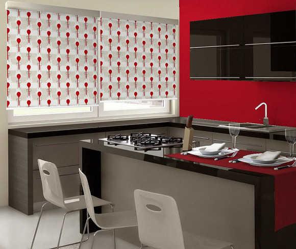 Modelos de cortinas para tu cocina escoge tu favorito for Cortinas para cocina gris