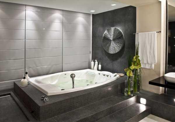 Decoraci n de ba os para casa tinas y jacuzzis 2012 for Bano con jacuzzi y ducha planos