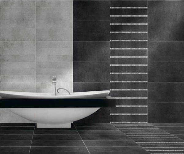 Baño Blanco Piso Gris:Porcelanato para baños, ¡modelos ideales!