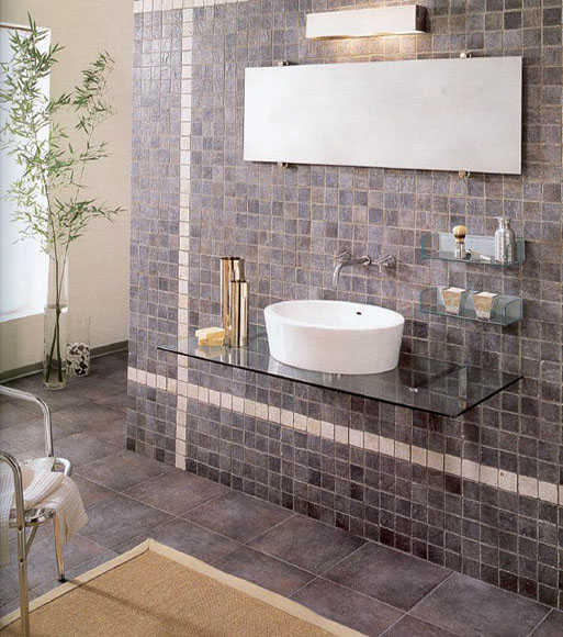 Baño Porcelanato Gris:Bathroom Floor Tile Gallery