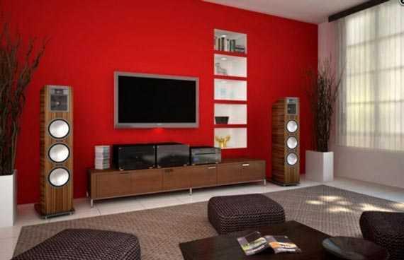 Decoraci N De Sala En Rojo Lo Que Buscabas Sala Decora Ilumina