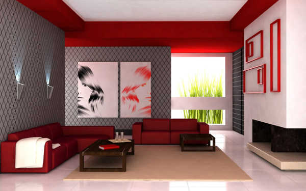 Decoraci243n de sala en rojo 161lo que buscabas Sala  : sala roja7 from www.decorailumina.com size 600 x 375 jpeg 24kB