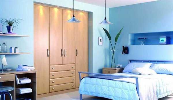 Dormitorio en celeste lo que so aste dormitorio for Colores para interiores de casa relajantes
