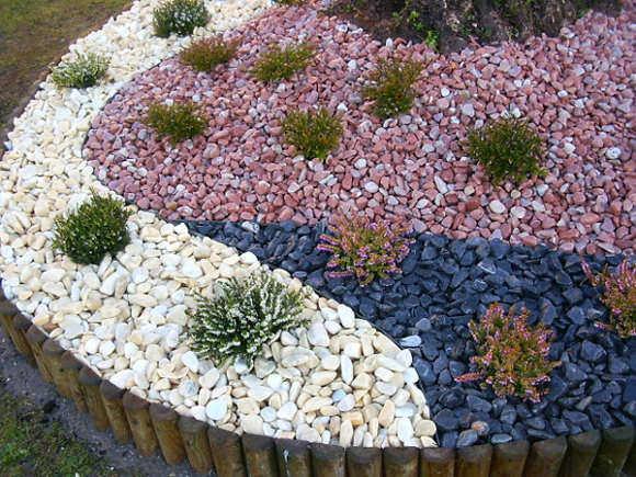 utiliza tu creatividad para decorar con piedras tu jardn