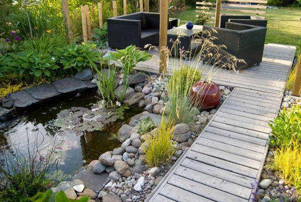 Decoraci n de jard n con piedras para tu casa jardin for Como mantener un estanque limpio