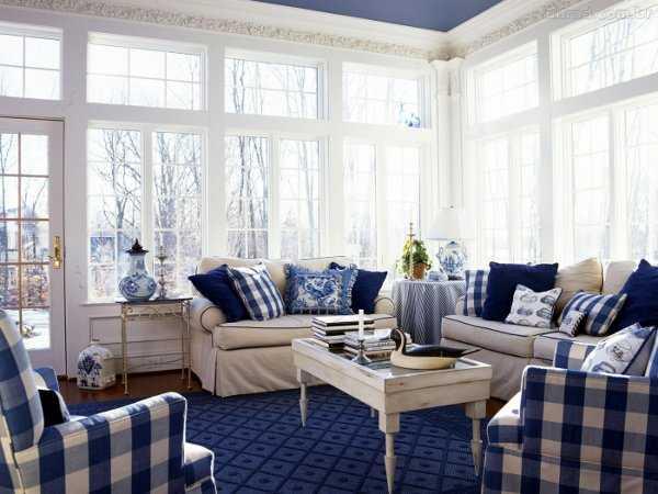 Sala en azul una decoraci n ideal sala decora ilumina for Sala gris con azul