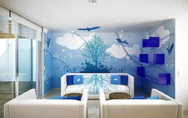 Sala En Azul Una Decoracion Ideal on bedroom color trends 2017