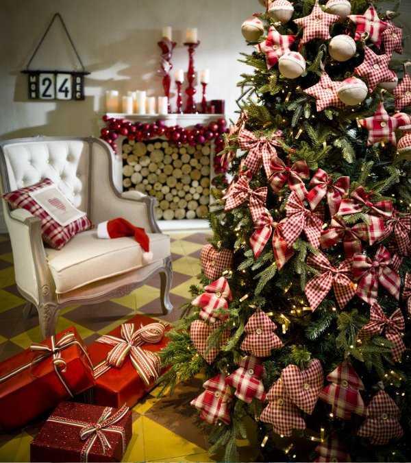 Decoraci n de rbol navide o nuevas y lindas ideas - Lazos para arbol de navidad ...