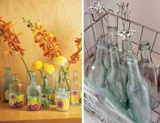 Decoraci n con botellas de vidrio recicla y renueva tu espacio tendencias decora ilumina - Fabrica de floreros de vidrio ...