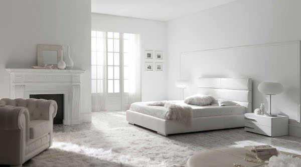 Dormitorio en blanco un sue o hecho realidad for Habitacion lila y blanca