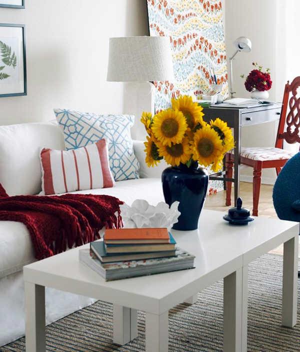 Decoraci n de mesas de centro infaltable para tu sala - Mesas de libro para salon ...