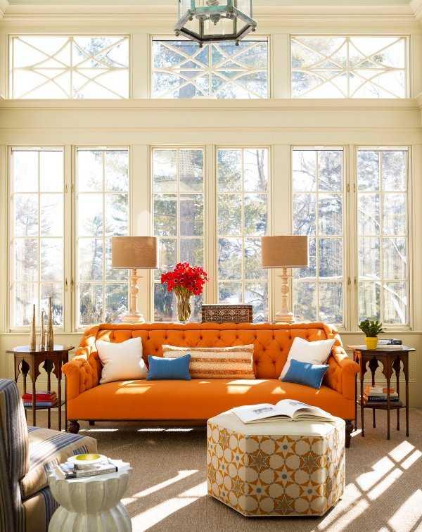 Nueva tendencia en juego de sala: ¡el color naranja está de moda ...
