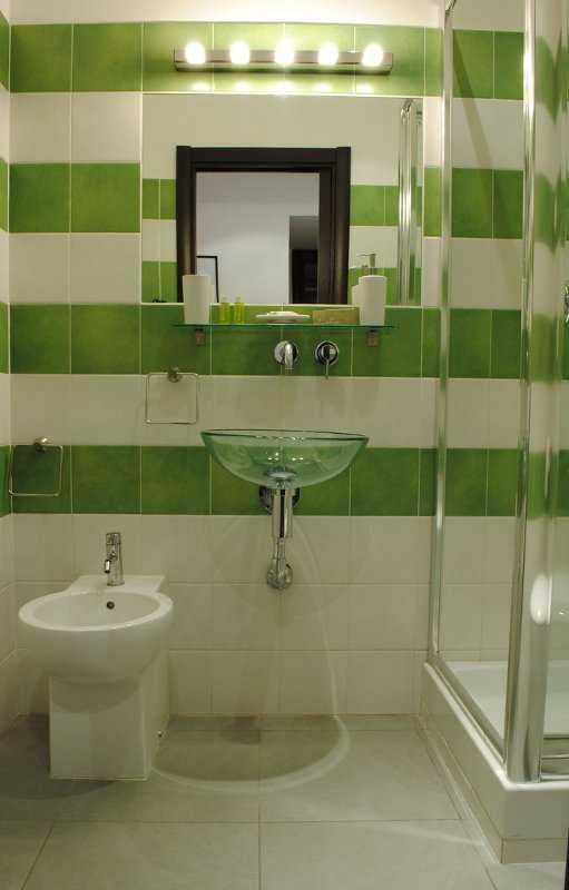 Piso Para Baño Verde:Combina Un baño en tonos verdes, puede tener más vida si lo