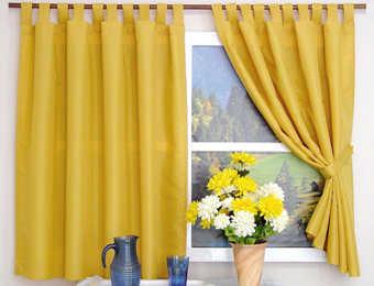 Los mejores modelos de cortinas para una cocina r stica cocina decora ilumina - Telas rusticas para cortinas ...