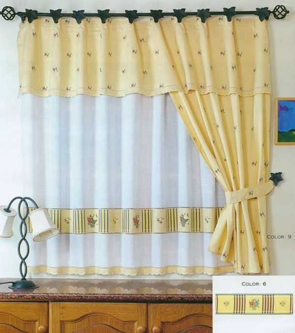 Cute colors for your kitchen curtains country style