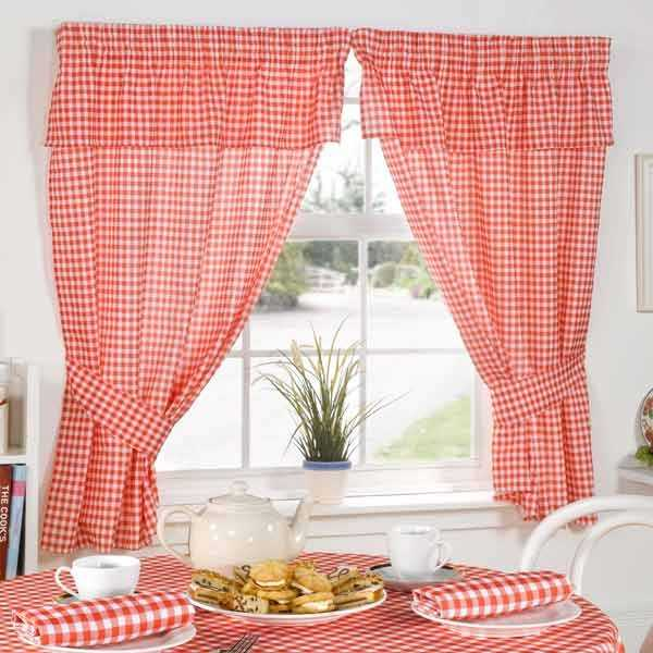 The red color is an excellent choice and checkered pattern A classic!