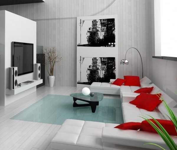 Sala Tv Minimalista ~  los mejores cojines para tu sala minimalista!  Sala  Decora Ilumina
