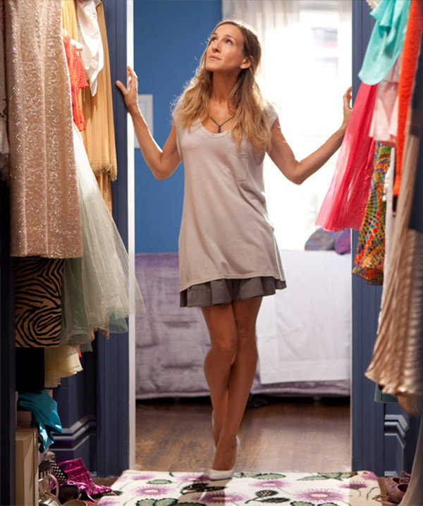 Carrie is a refined taste in clothes Here we walk in closet!