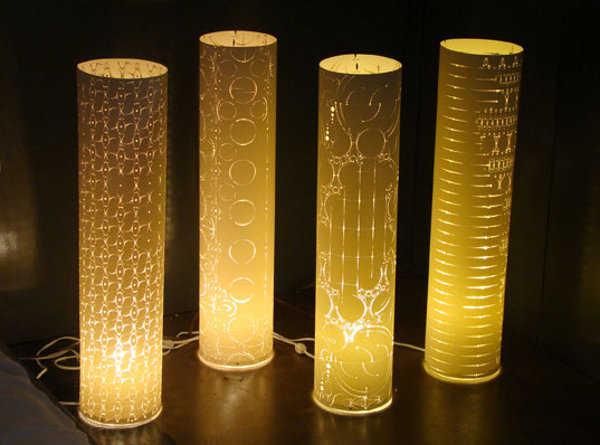 """Изделия из бумаги.  Бумажные абажуры от Romme & Levent.  Прокомментировать запись  """"Декоративное искусство вырезания..."""