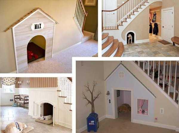 ¿Casa de perro debajo de la escalera? ¡Ideal para casas pequeñas!
