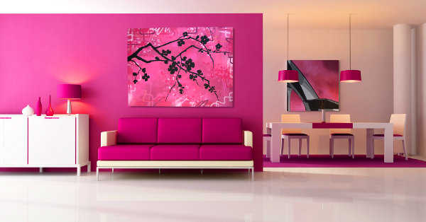 decoraci n de sala en rosado interesantes tips. Black Bedroom Furniture Sets. Home Design Ideas