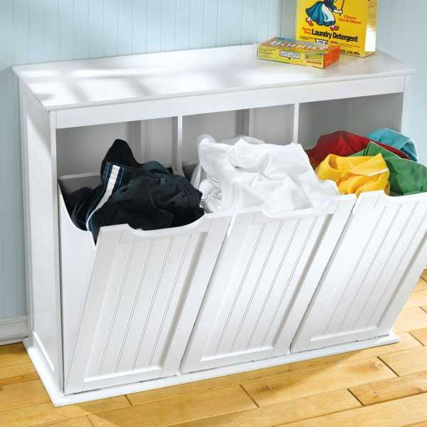Muebles para la ropa sucia atr vete a renovar la - Divided laundry hampers ...