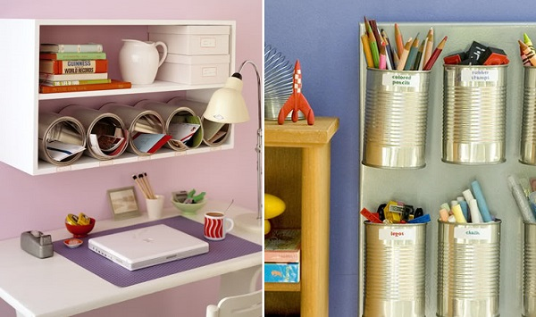7 ideas creativas para reciclar y decorar bricolaje for Repisas recicladas