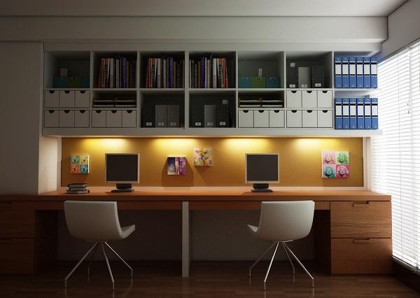 Tu estudio de trabajo se modernizará por completo tan solo agregando gabinetes simétricos