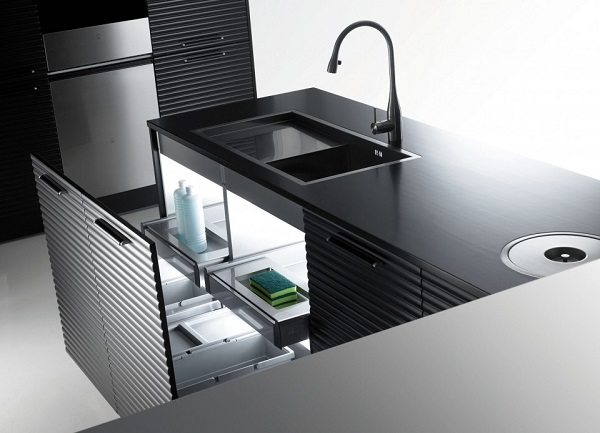 Los muebles multifuncionales para cocina ofrecen gran espacio para organizar utensilios, además de ser elegantes y aportar a la decoración