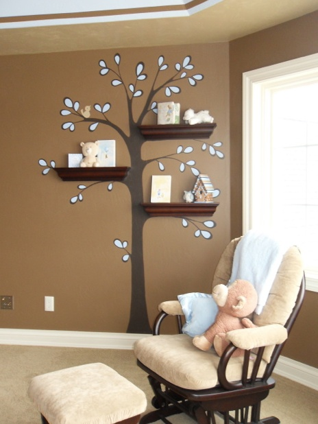una idea prctica y bella para organizar la habitacin de tu beb