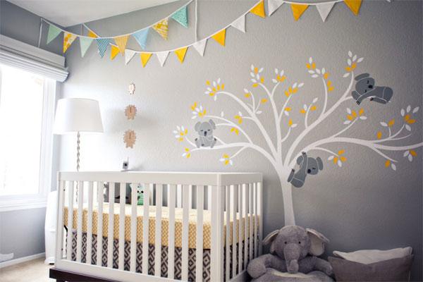 los banderines aportan color y alegra a la habitacin de tu beb