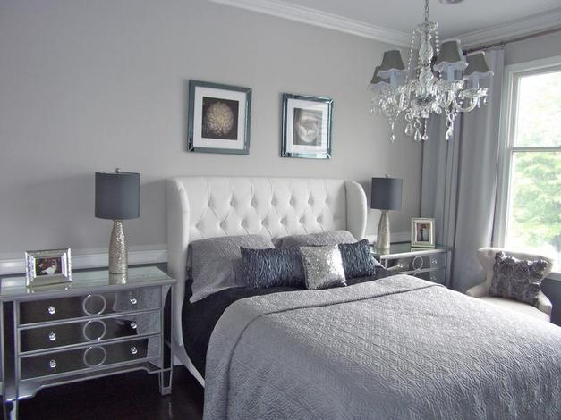 glamorous black white grey bedroom ideas | ¿Qué dice el color de mi dormitorio de mí? | General ...