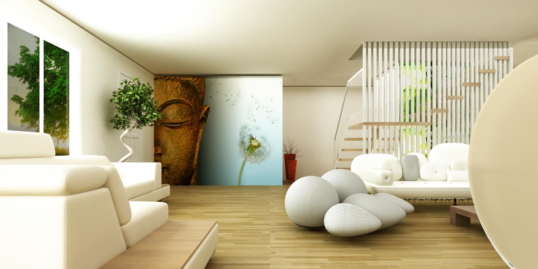 Los mejores accesorios para tener una sala zen sala decora ilumina - Living room design for small spaces image ...