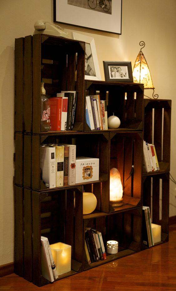 10 ideas para decorar con cajas de frutas diy diy decora ilumina - Cajas fruta decoracion ...