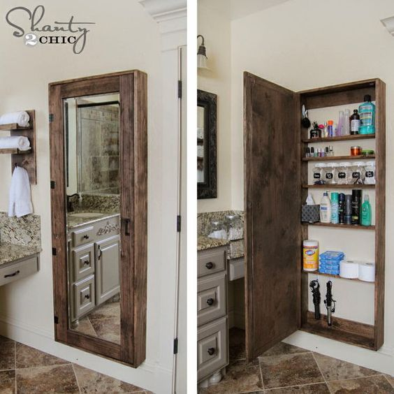 Accesorios De Baño Que No Se Oxiden:Bathroom Mirror Storage Case